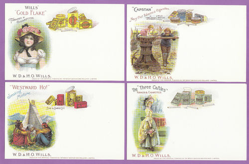 Victoria Gallery - Set Of P 4 Wills ' Advertisement Postcards ' Cards