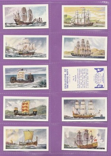 Set Of 25 - Swettenham (tea) - Evolution Of The Royal Navy - 1957