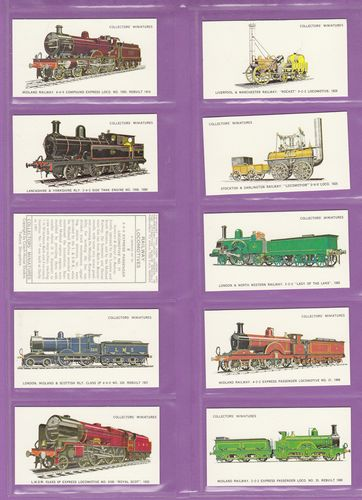 Set Of 50 - Coach House Studios - Railway Locomotives - 1987