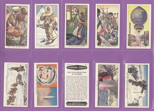 Set Of 12 - Kellogg Ltd. - Famous Firsts - 1963