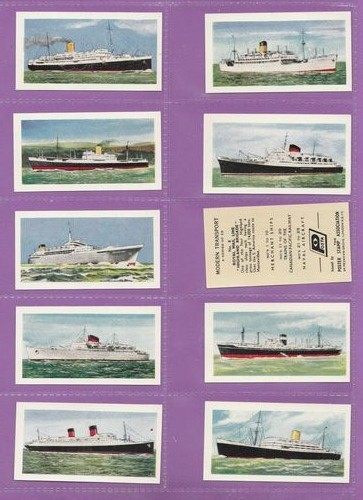 Set Of 25 - The Poster Stamp Association - Modern Transport - 1957