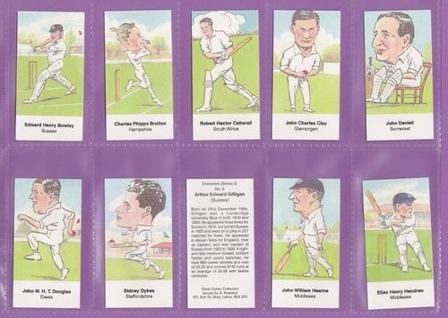 Set Of 25 - David Rowland - Cricketers (series 2) - 1999