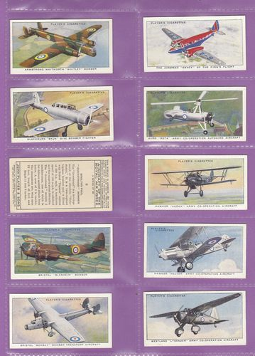 Set Of 50 - John Player & Sons - Aircraft Of The Royal Air Force - 1938