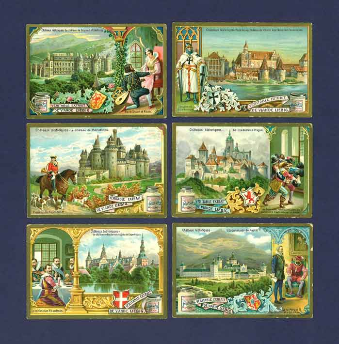 Liebig - Set Of X 6 - S  808 / F 809 - Historic Castles - 1905