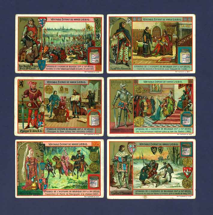 Liebig - Set Of X 6 - S  813 / F 814 - Episodes From Belgian History I - 1905