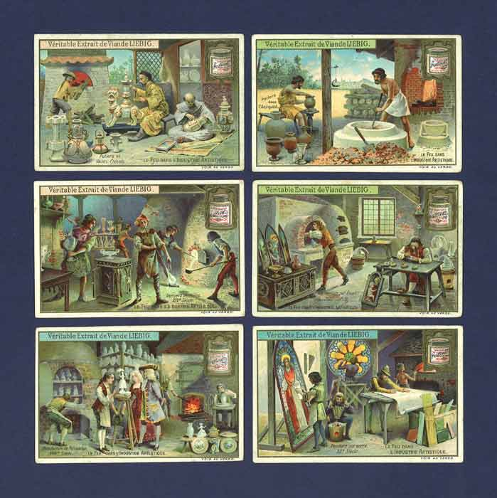 Liebig - Set Of X 6 - S  816 / F 817 - The Use Of Fire In Arts - 1905