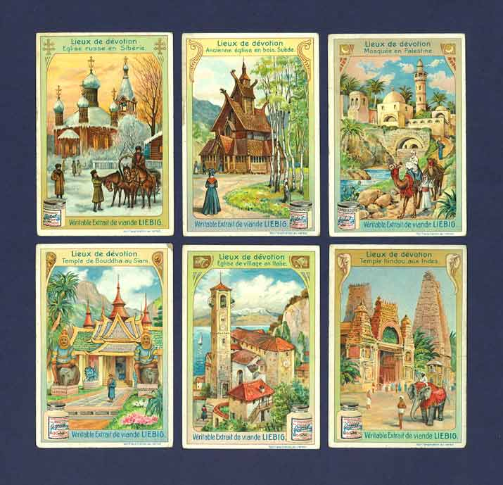 Liebig - Set Of X 6 - S  821 / F 824 - Places Of Worship - 1905