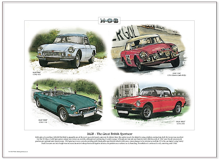 Golden Era Print - Mg - Mgb - The Great British Sportscar