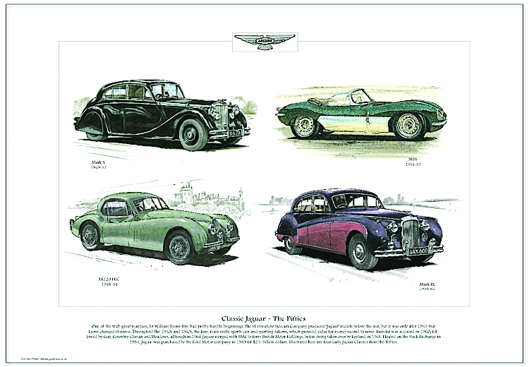 Golden Era Print - Jaguar - Classic Jaguar - The Fifties