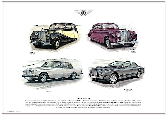 Golden Era Print - Bentley - Classic Bentley