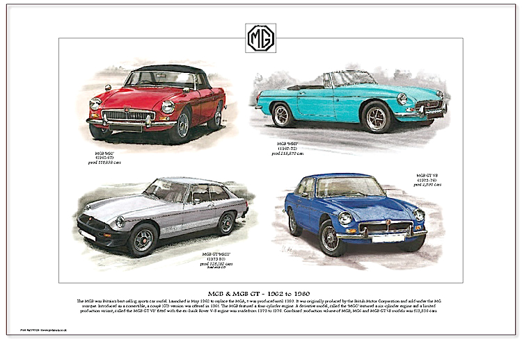 Golden Era Print - Mg - Mgb & Mgb Gt - 1962 To 1980