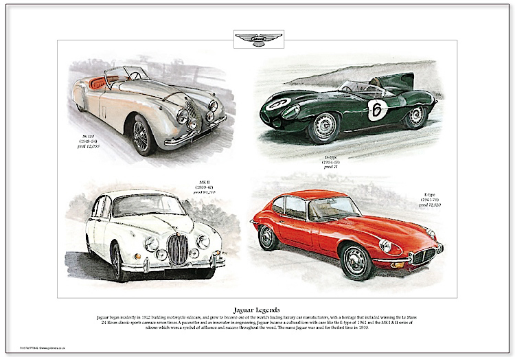 Golden Era Print - Jaguar - Jaguar Legends