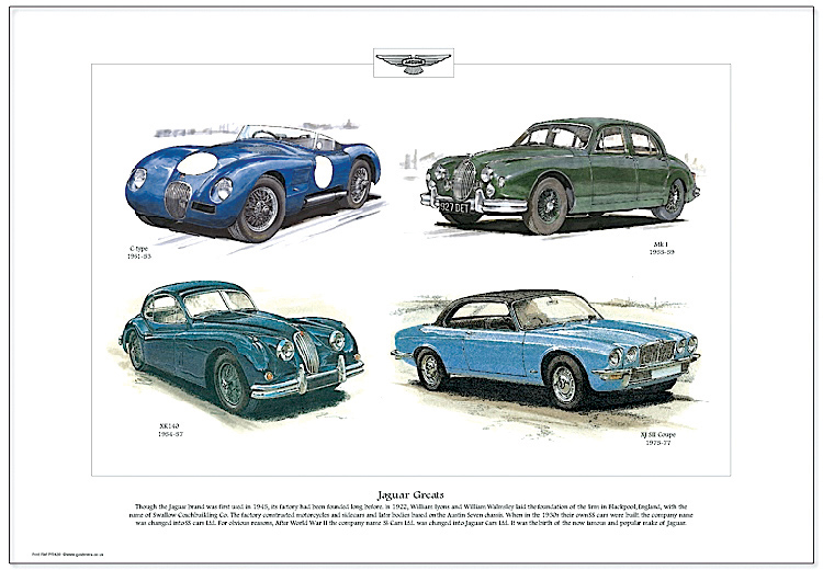 Golden Era Print - Jaguar - Jaguar Greats
