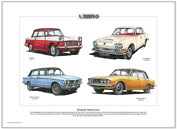 Golden Era Print - Triumph - Triumph Saloon Cars