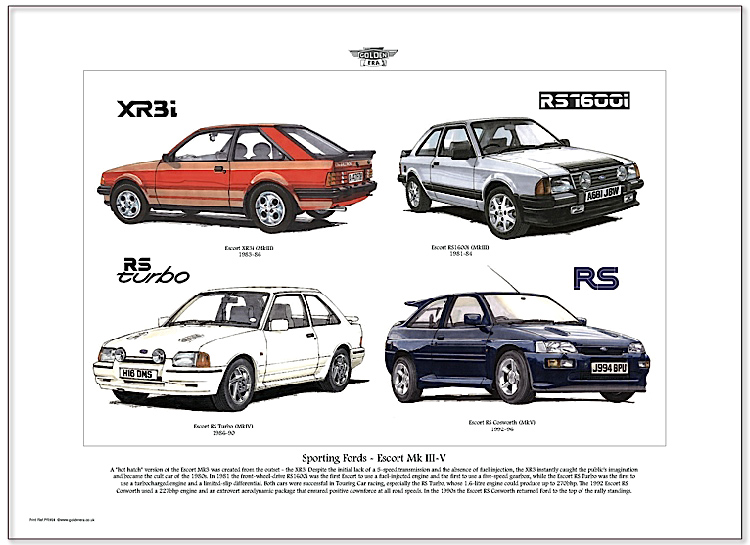 Golden Era Print - Ford - Sporting Fords - Escort Mk Iii - V