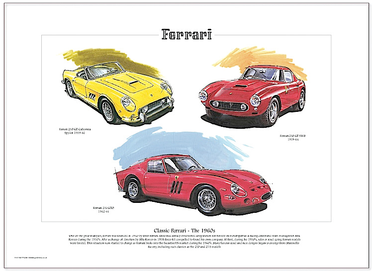 Golden Era Print - Ferrari - Classic Ferrari - The 1960s