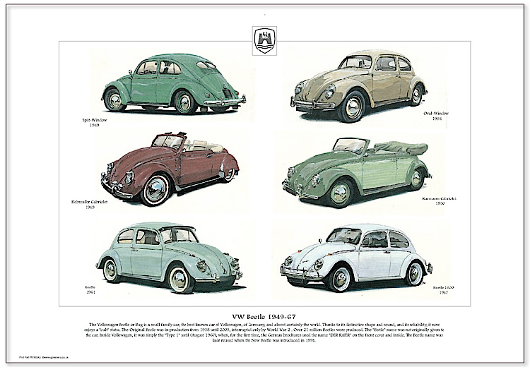 Golden Era Print - Vw - Vw Beetle 1949-67
