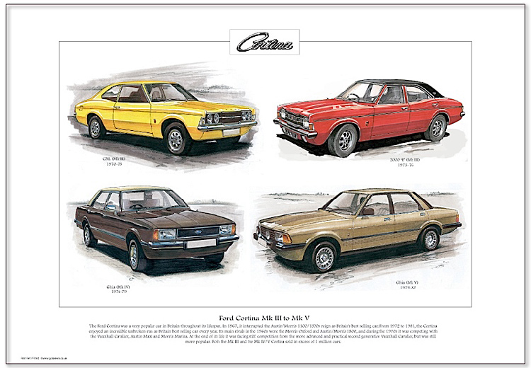 Golden Era Print - Ford - Ford Cortina Mk Iii To Mk V