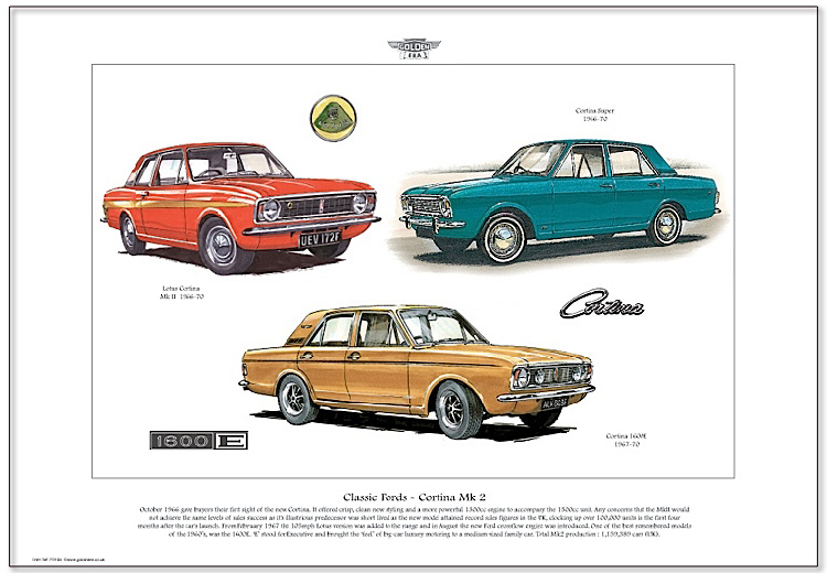 Golden Era Print - Ford - Classic Fords - Cortina Mk 2