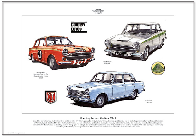Golden Era Print - Ford - Sporting Fords - Cortina Mk I