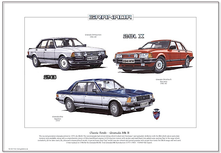 Golden Era Print - Ford - Classic Fords - Granada Mk Ii