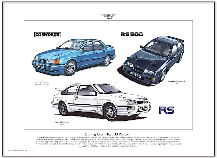 Golden Era Print - Ford - Sporting Fords - Sierra Rs Cosworth