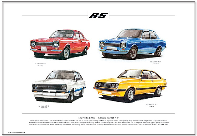 Golden Era Print - Ford - Sporting Fords - Classic Escort ' Rs '