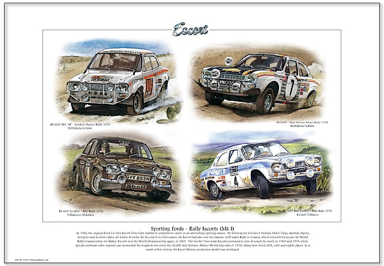 Golden Era Print - Ford - Sporting Fords - Rally Escorts Mk I