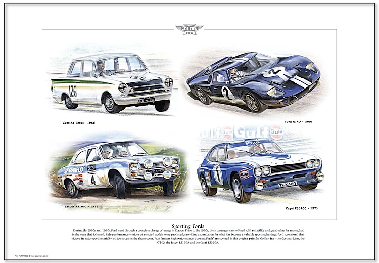 Golden Era Print - Ford - Sporting Fords