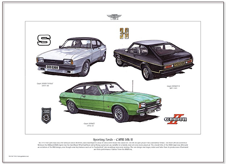 Golden Era Print - Ford - Sporting Fords - Capri Mk Ii