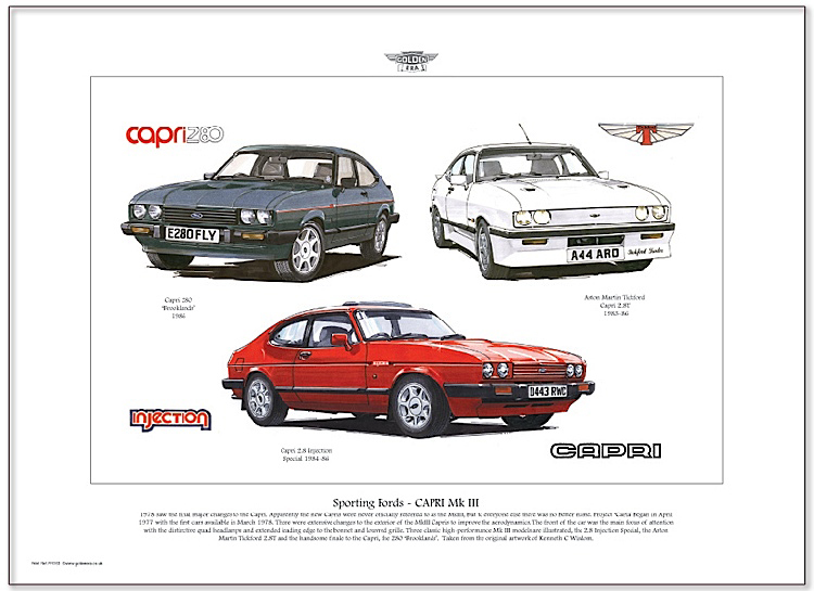 Golden Era Print - Ford - Sporting Fords - Capri Mk Iii