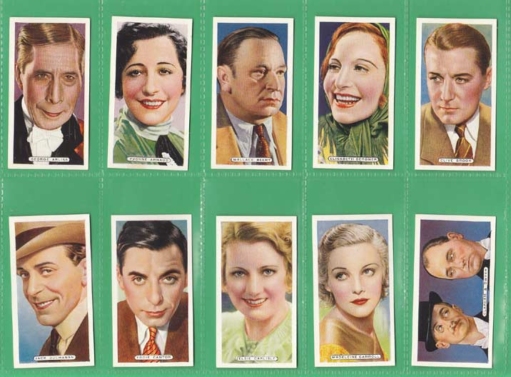 Ardath Tobacco Co. Ltd. - Set Of 50 - Film, Stage & Radio Stars - 1935