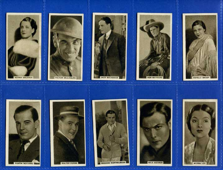 British American Tobacco Co. Ltd. - Set Of 50 - Cinema Artistes, Set 2 (brown) - 1931