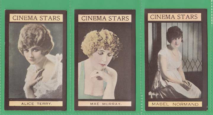 W. Sandorides & Co. Ltd. - Set Of X 25 - Cinema Stars (big Gun) - 1924