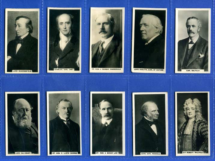 Carreras Ltd. - Set Of 27 - British Prime Ministers - 1928