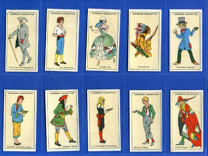 Carreras Ltd. - Set Of 25 - Figures Of Fiction - 1924