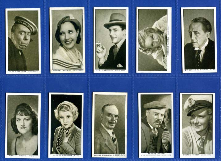 W. A. & A. C. Churchman - Set Of 25 - British Film Stars - 1934