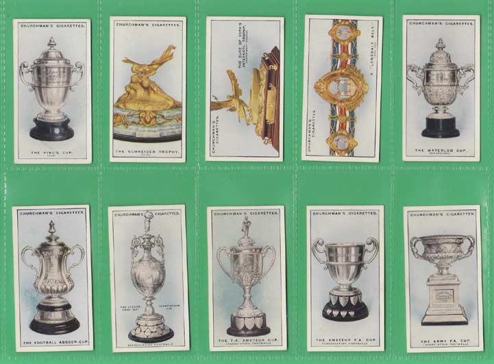 W. A. & A. C. Churchman - Set Of 25 - Sporting Trophies - 1927