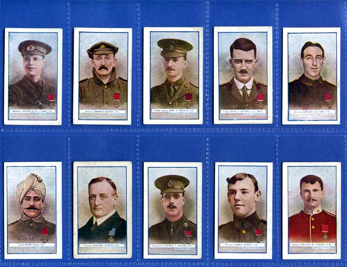 Gallaher Ltd. - Set of 25 - The Great War Victoria Cross Heroes, 5th Series - 1916
