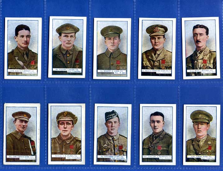 Gallaher Ltd. - Set of 25 - The Great War Victoria Cross Heroes, 8th Series - 1918