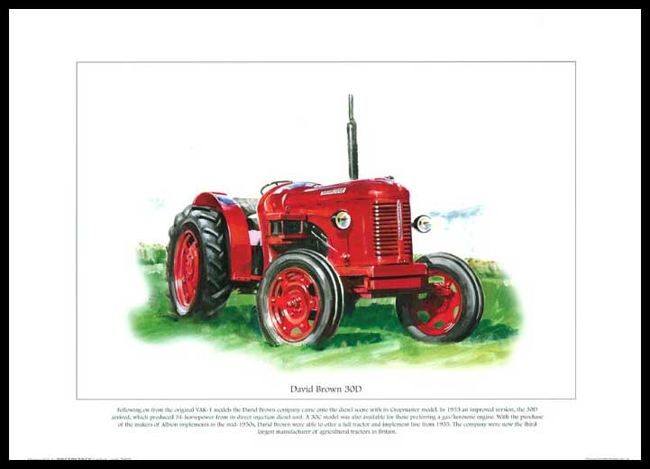 Rogerstock Ltd. - Tractor Print - David Brown 30 D