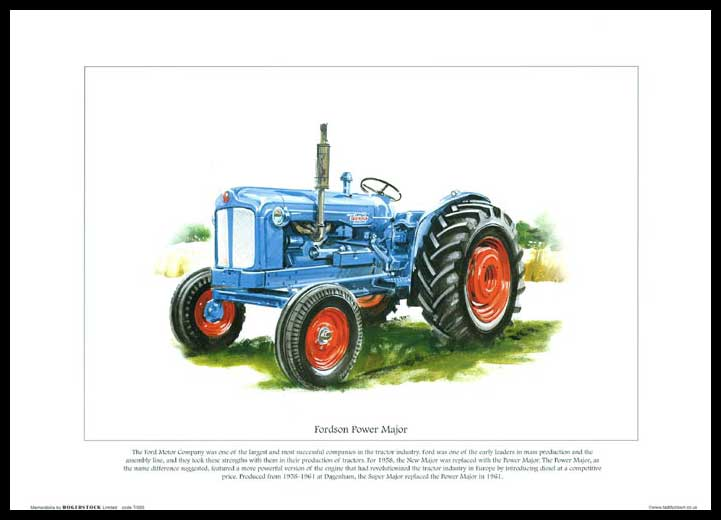 Rogerstock Ltd. - Tractor Print - Fordson Power Major