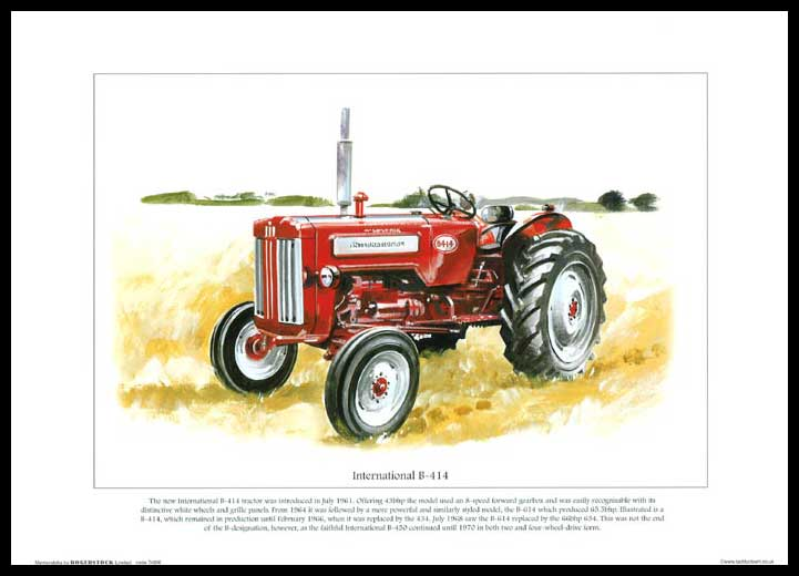 Rogerstock Ltd. - Tractor Print - International B - 414