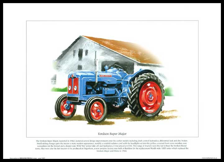 Rogerstock Ltd. - Tractor Print - Fordson Super Major