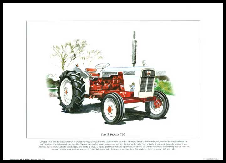 Rogerstock Ltd. - Tractor Print - David Brown 780