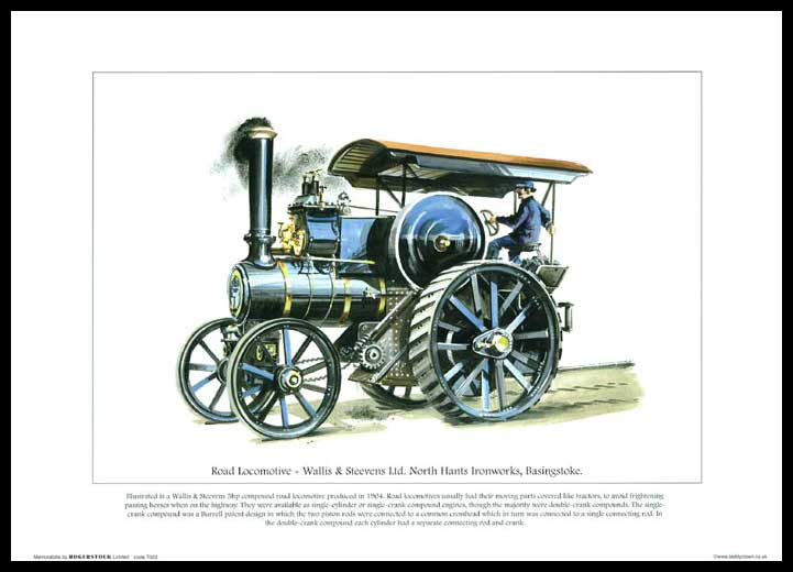 Rogerstock Ltd. - 25 Steam Traction Engine Prints - Road Locomotive By Wallis & Steevens Ltd.