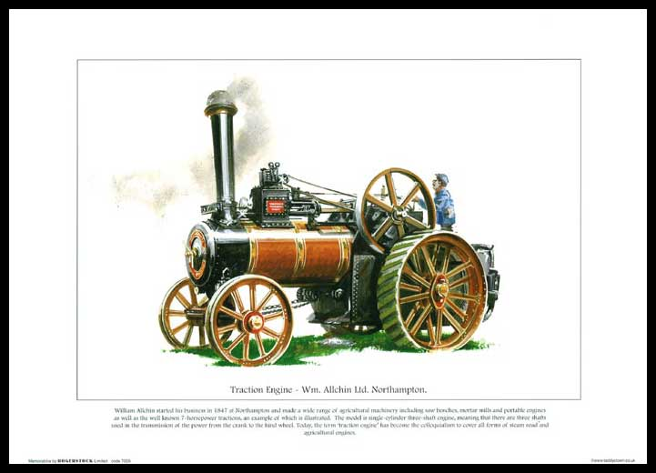 Rogerstock Ltd. - 25 Steam Traction Engine Prints - Traction Engine By Wm. Allchin Ltd.