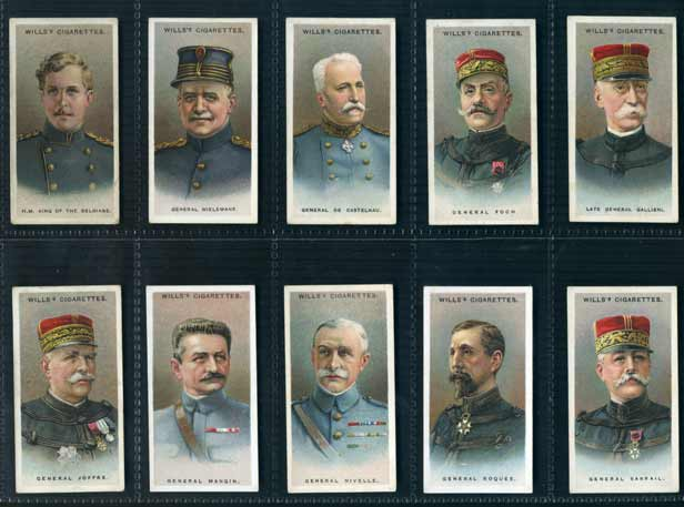 W. D. & H. O. Wills Ltd. - Set of 50 - Allied Army Leaders - 1917