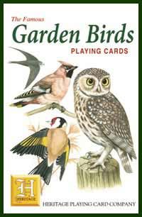 Heritage Playing Card Co. - Boxed Set of Playing Cards + 2 Jokers - Garden Birds