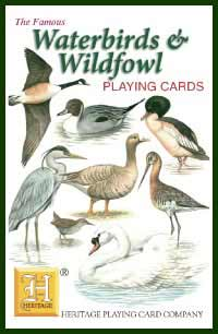Heritage Playing Card Co. - Boxed Set of Playing Cards + 2 Jokers - WaterBirds & Wildfowl